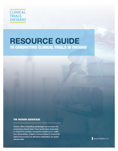 Clinical Trials Ontario New Resource Document Now Available