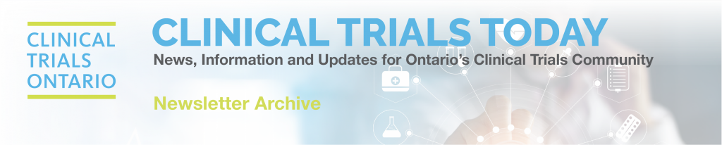 Clinical Trials Ontario Newsletter