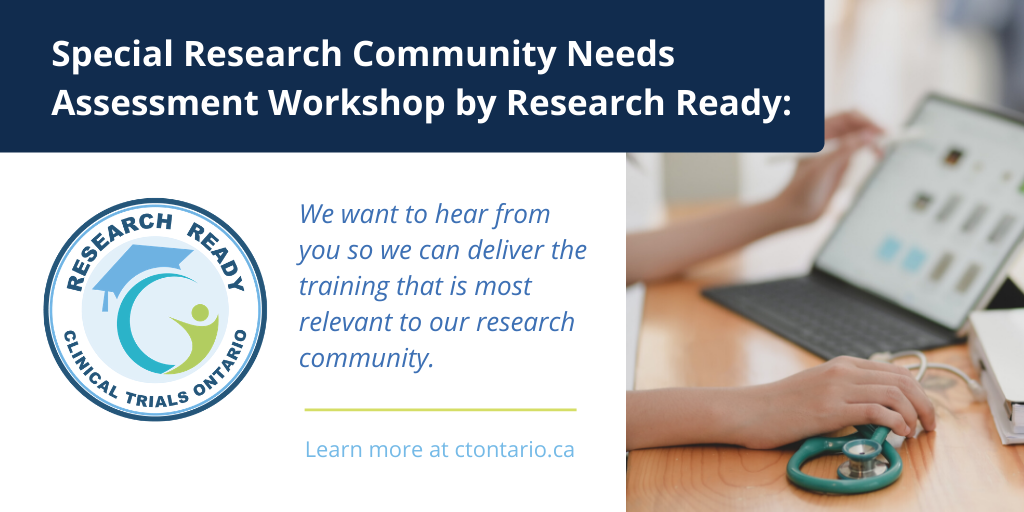 Special Research Community Needs Assessment Workshop by Research Ready